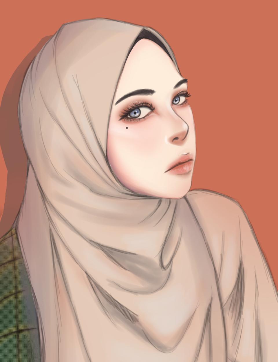 Girl with hijab Illust of Veraaa September2021_Girl anime girl Islam animegirl medibangpaint art eyes contest