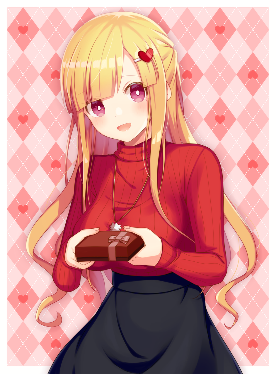 Happy Valentine♡ Illust of 星野 光 Feb2020:VDAY Valentine girl チョコレート