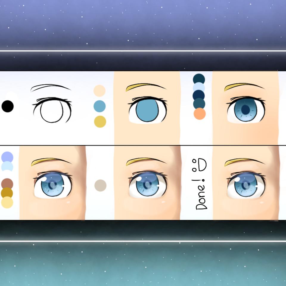 How to? Illust of Amai☆ medibangpaint tutorial original eyes メイキング skin howto