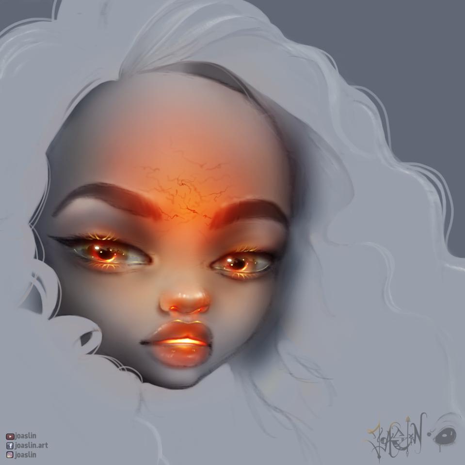 🔥 Headache 🔥 Illust of JoAsLiN art Headache girl eyes cute anime illustration migraine oc original