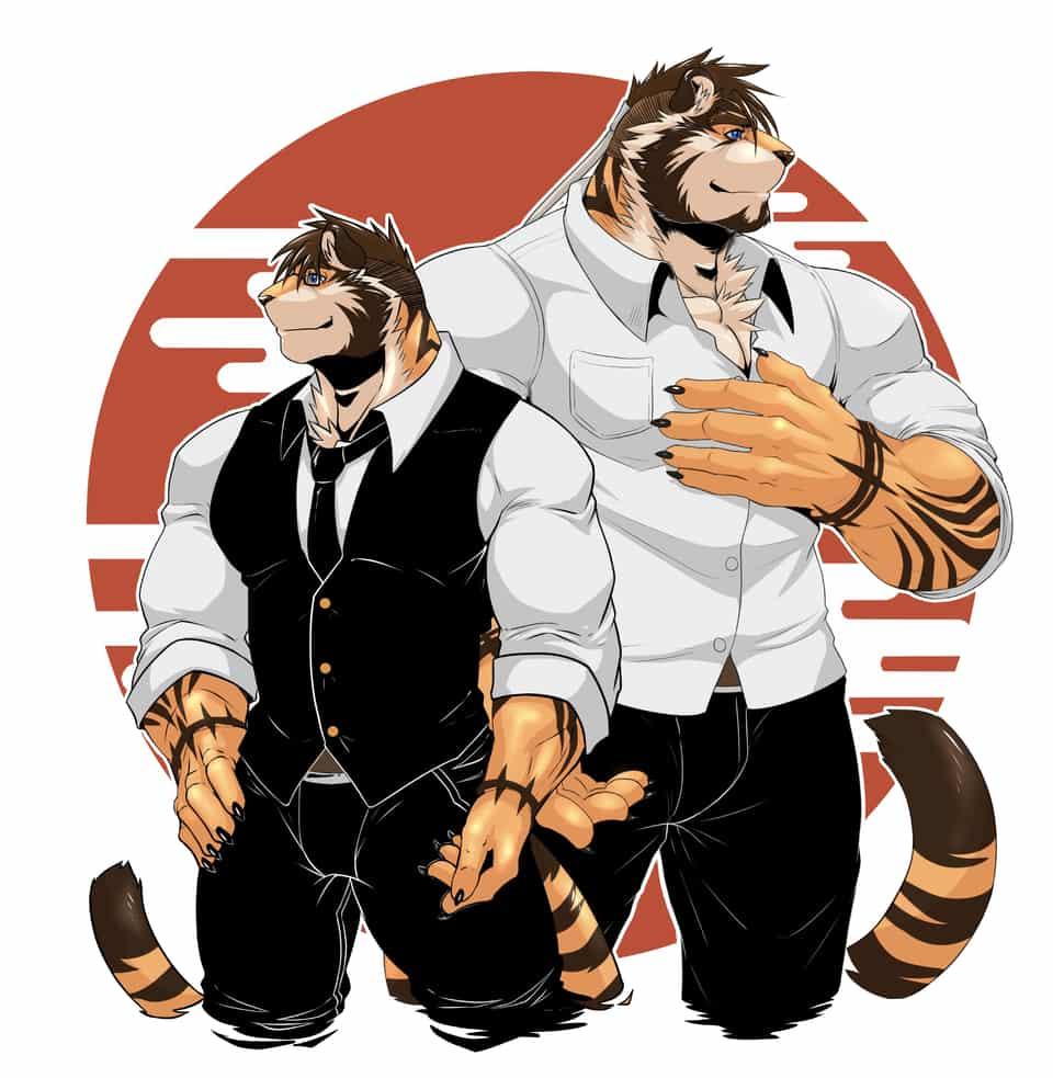 西裝王道 Illust of EnaEric September2020_Contest:Furry 西裝 furry 獸人