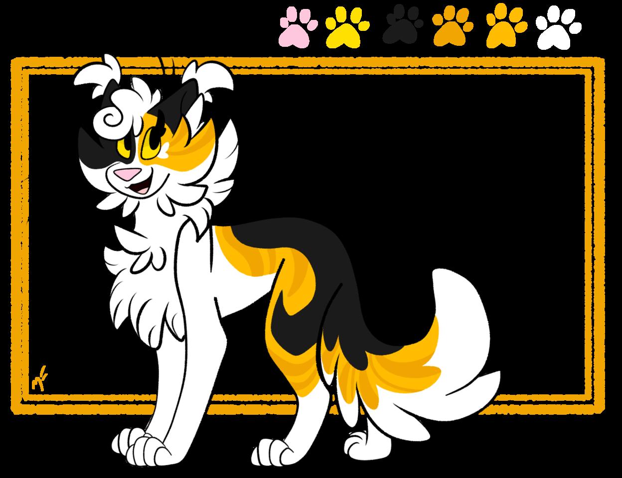 Illust of ✧ Midnight ✧ oc cat referencesheet redraw medibangpaint redesign