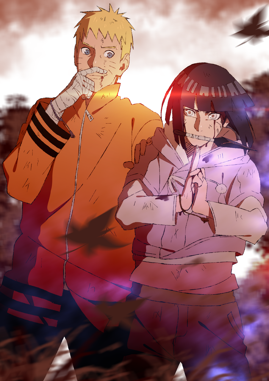 Naruto and Hinata Illust of Raikiri 1stjumpillust BORUTO NARUTO hinata
