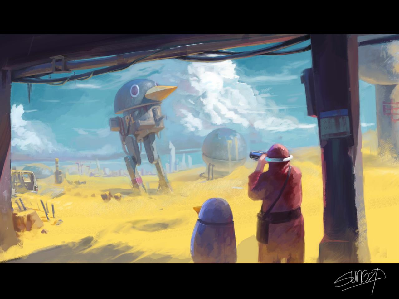 机器沙漠 Illust of SUN6ZF medibangpaint