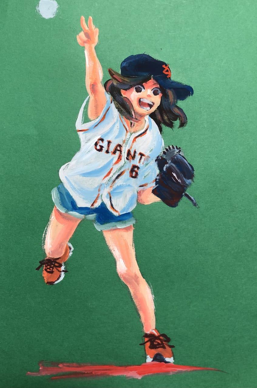 ヤキューガール Illust of トサカカサト 野球 girl おんなのこ アナログ AnalogDrawing