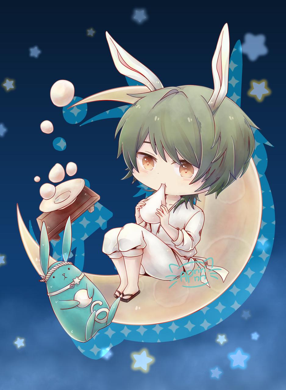Usa-Rui Illust of Apririnn (Onigiri) ARTstreet_Ranking cute Tsukiusa rabbit tsukipro Usagi medibangpaint Minadukirui chibi tsukiuta guy