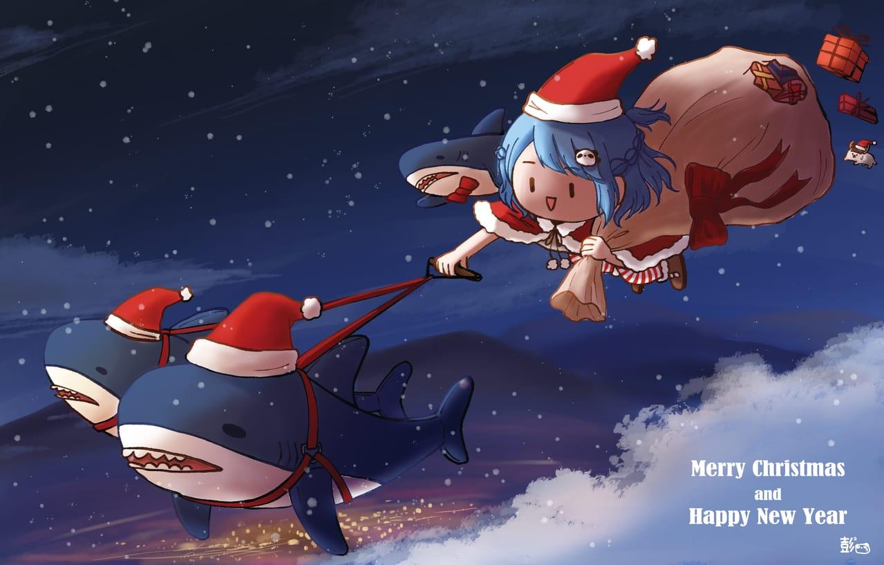 聖誕鯊鯊 Illust of vickypon