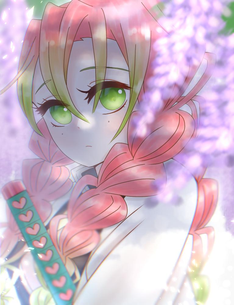 甘露寺蜜璃 Illust of ぽちわらび medibangpaint KimetsunoYaiba girl KanrojiMitsuri 恋柱