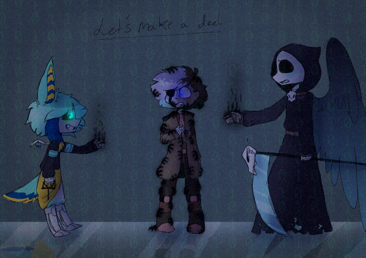Let's make a deal ~desc~ Illust of BushBabyOrigins medibangpaint death backstory reaper undertale reapertale UndertaleAU