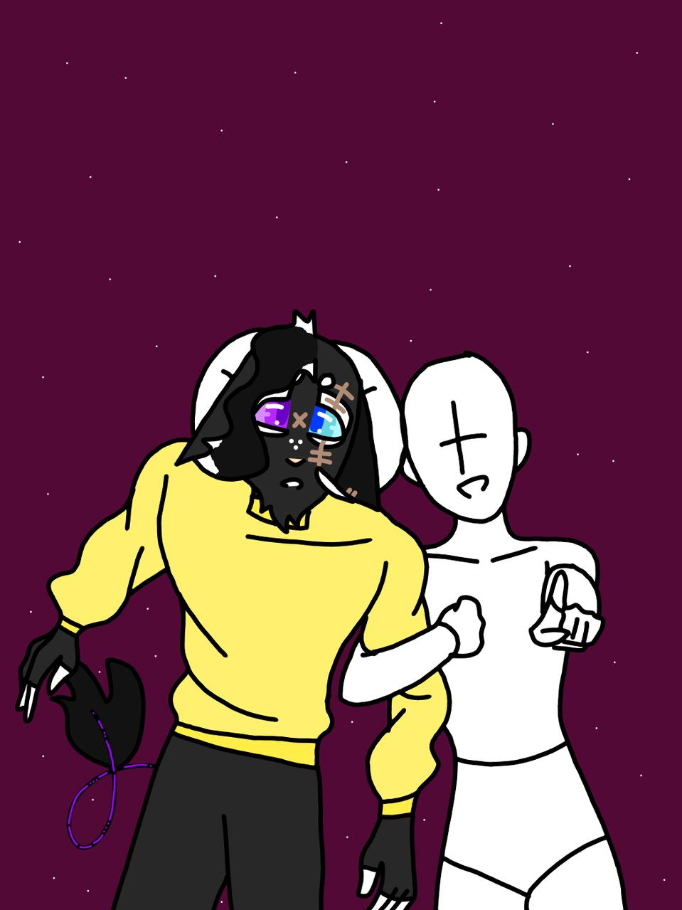 Collab anyone? Illust of HeadHonchoCodex medibangpaint boy HeadHonchoCodex dark villain sweater oc Emo collab furry