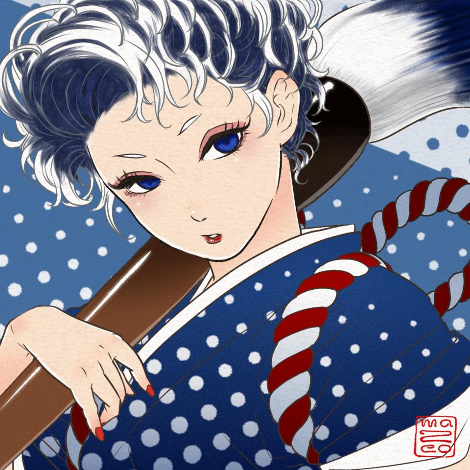 HOKUSAI GIRL Illust of Ma2co MasterpieceFanart 神奈川沖浪裏 葛飾北斎