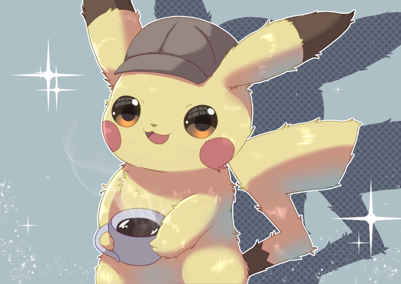 名探偵ピカチュウ Illust of 猫耳 名探偵ピカチュウ pokemon Pikachu
