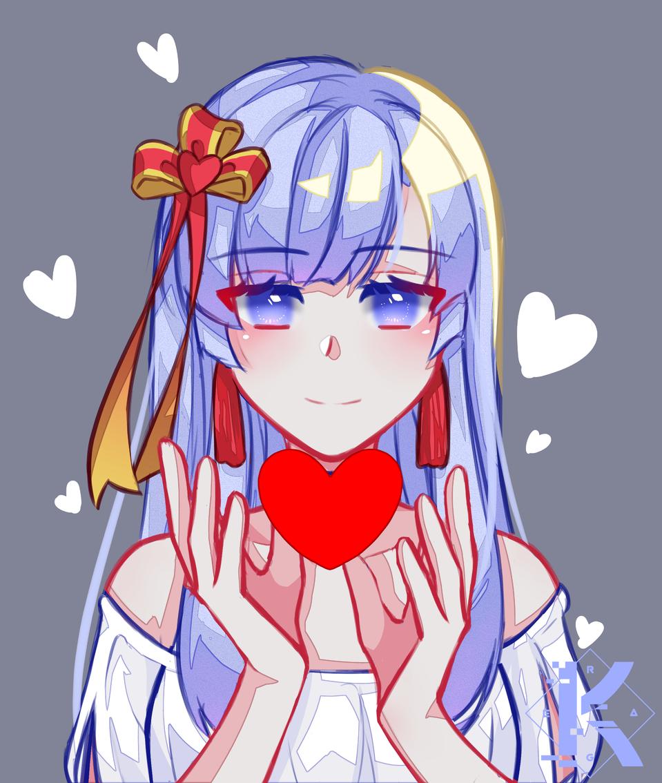 Nanami's smile >w< Illust of Kagera ARTstreet_Ranking anime longhair girl oc medibangpaint original doodle simple love cute