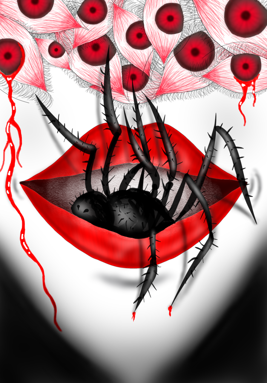 Eat u,u eat Illust of babylovefacepaint horror August2020_Contest:Horror vampire ghost 比賽 Scary zombie