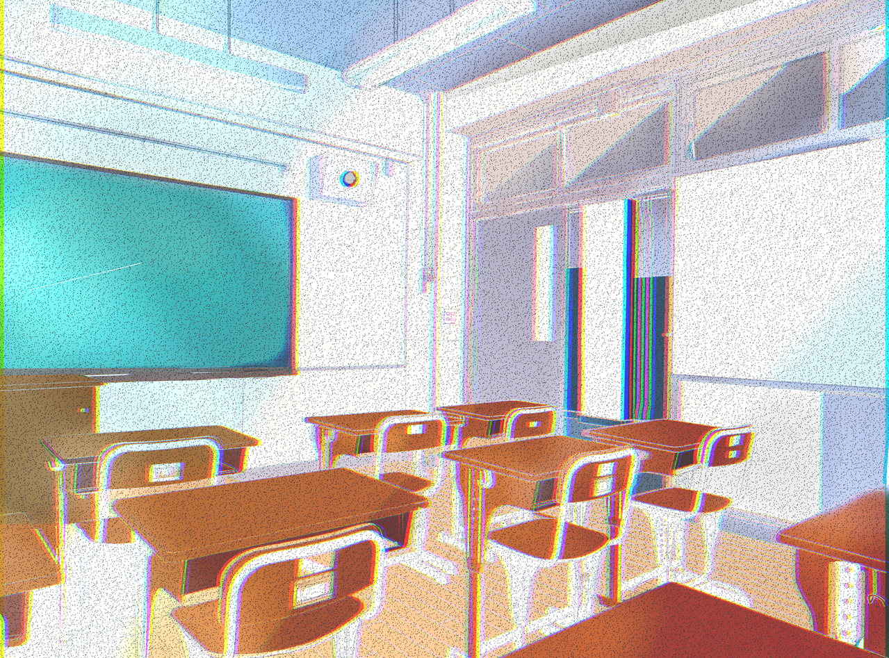 Empty classroom Illust of Aiba Background_Image_Contest BackgroundImageContest_Coloring_Division classroom beautiful colouful sand