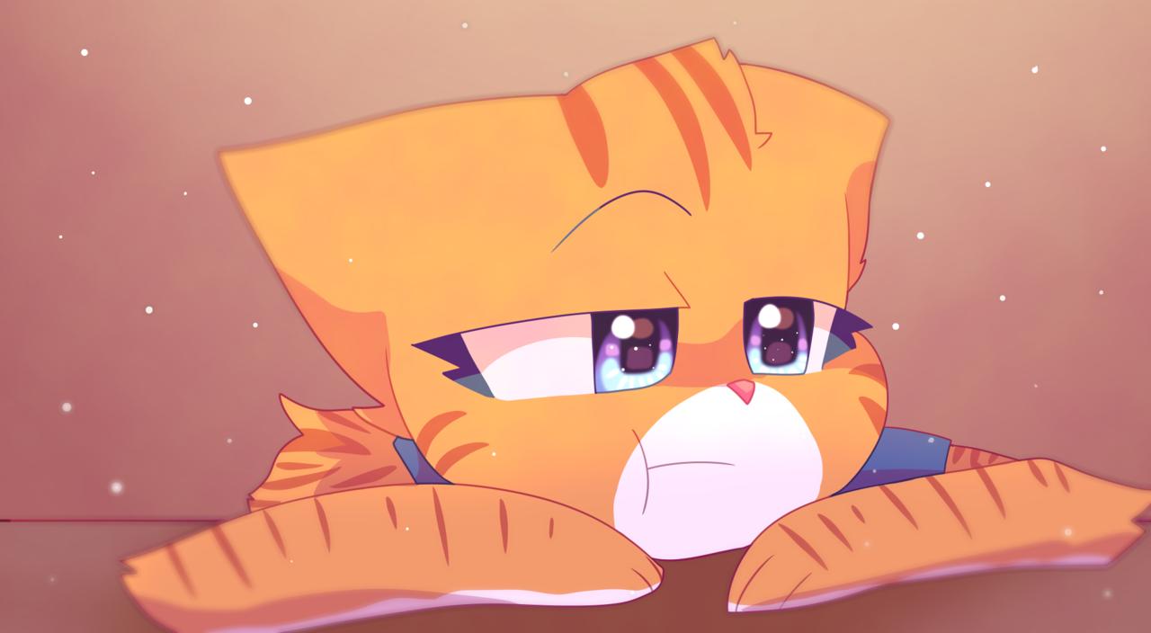 bored -_- Illust of Zizi medibangpaint cat yellow illustration bored