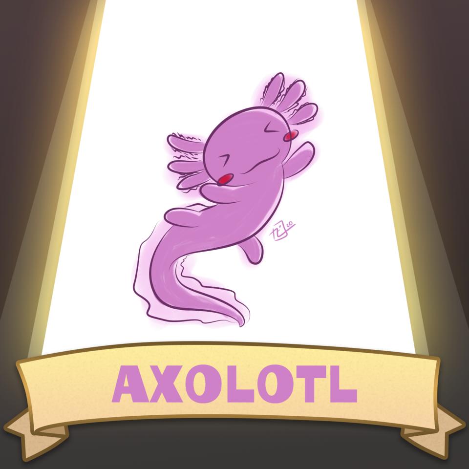 メキシコサラマンダー Illust of Kirby Iwaki メキシコサラマンダー sketch SoBadItsGood Axolotl