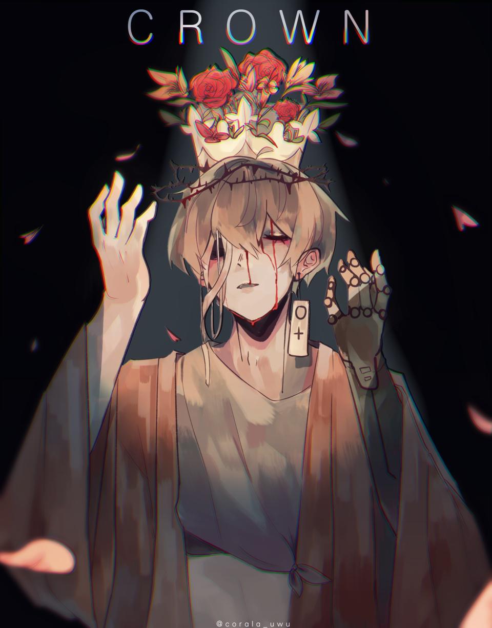 crown Illust of corala oc anime animeart medibangpaint