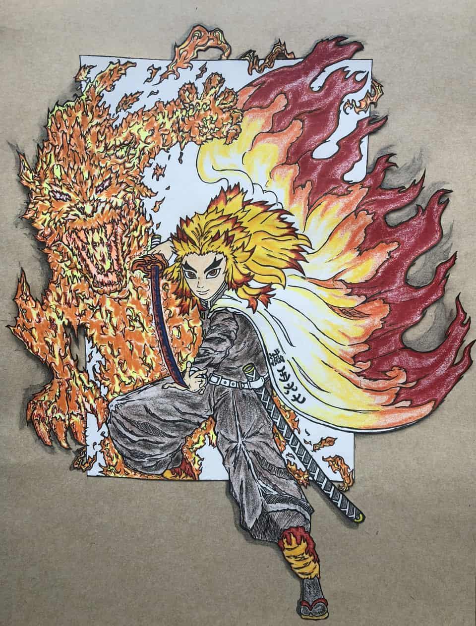 『赫き想い』 Illust of ミュウ DemonSlayerFanartContest RengokuKyoujurou illustration コロナに負けるな KimetsunoYaiba