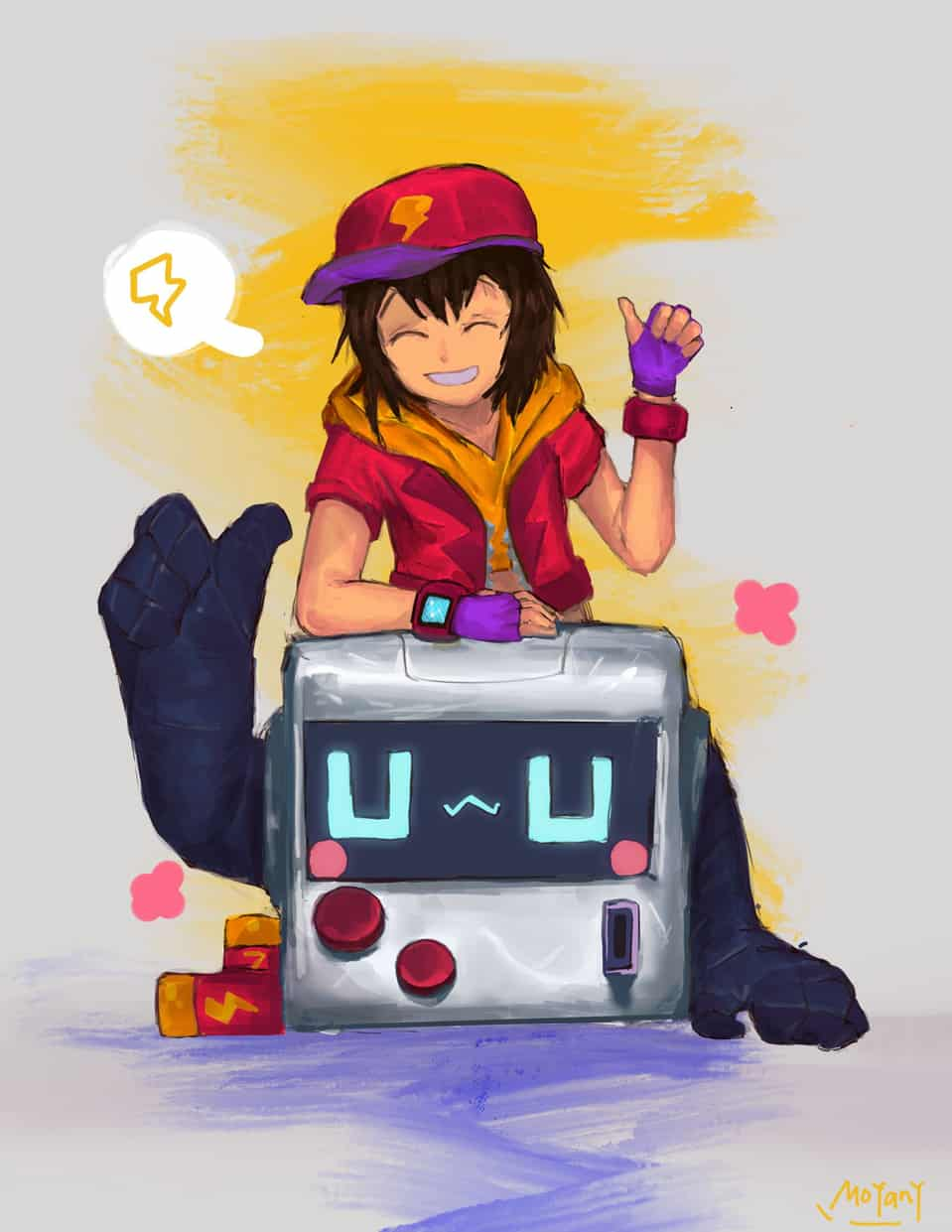 Max and 8-bit Illust of ΜΟ Γιανγκ[墨陽] cute supercell