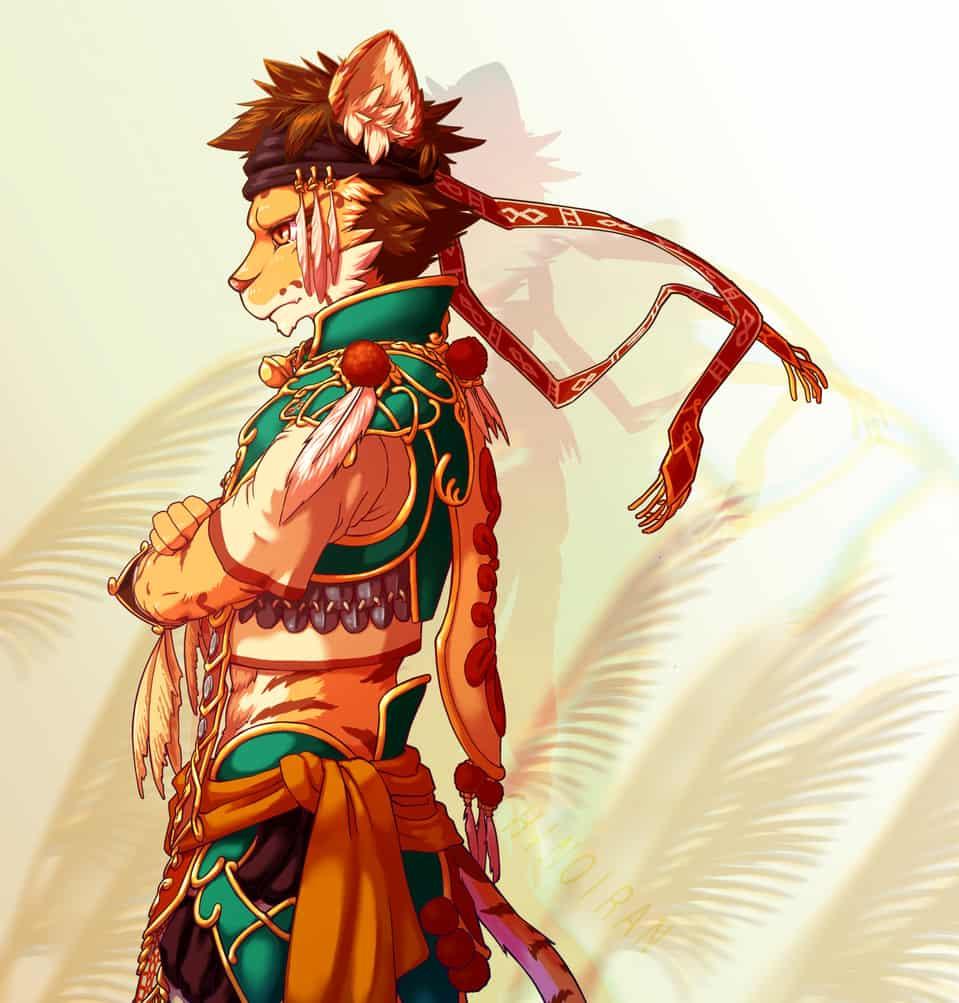 平埔小虎爺 Illust of 千野伊嵐 September2020_Contest:Furry furry original Tiger oc TigerGod 虎爺