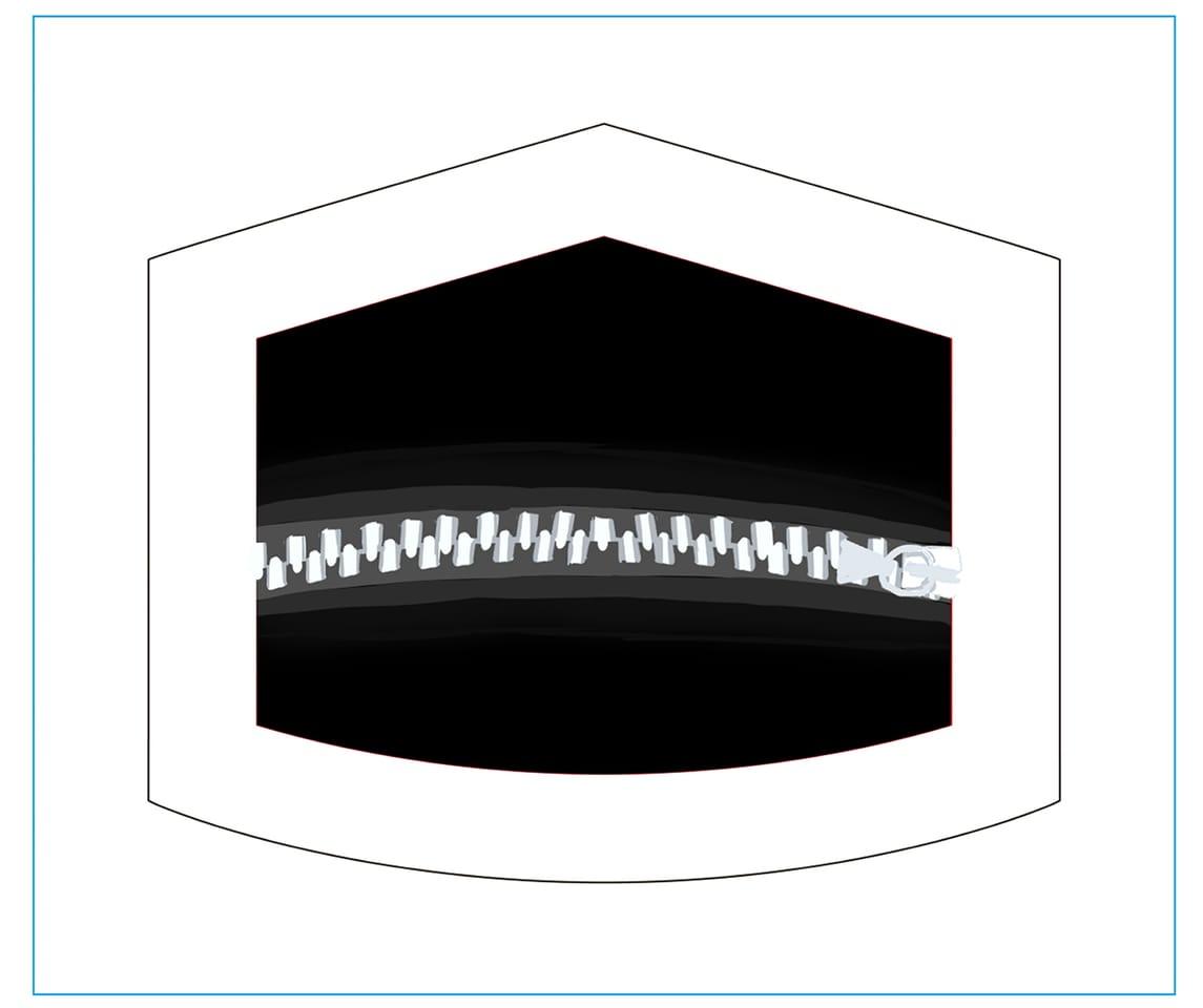 fastener Illust of おみそ#田舎同盟 MaskDesignContest black CLIPSTUDIOPAINT マスク illustration