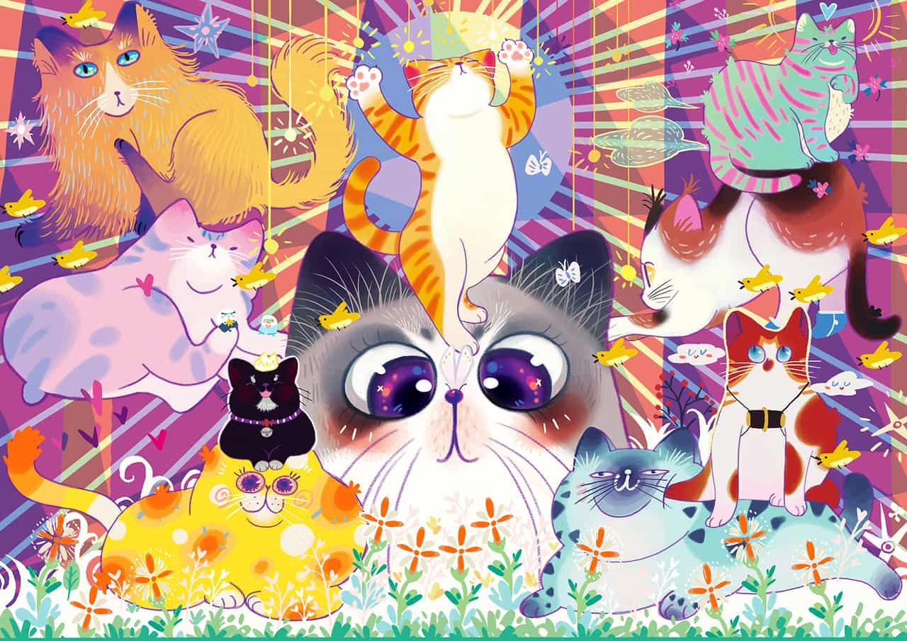 一群猫 Illust of 呀哆yaduo DOGvsCAT_CAT cat illustration