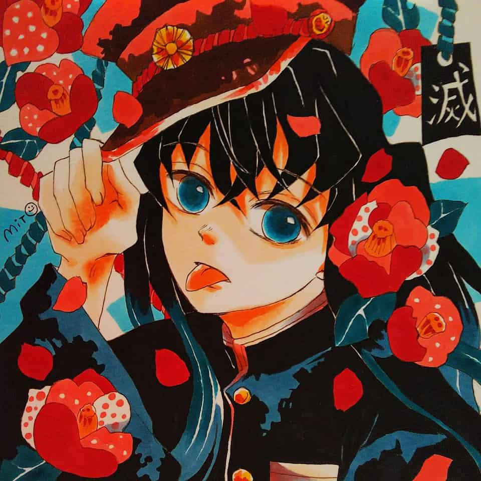 花子くん風むいむい Illust of ミト コピックイラスト Toilet-boundHanako-kun TokitouMuichirou KimetsunoYaiba むいむい