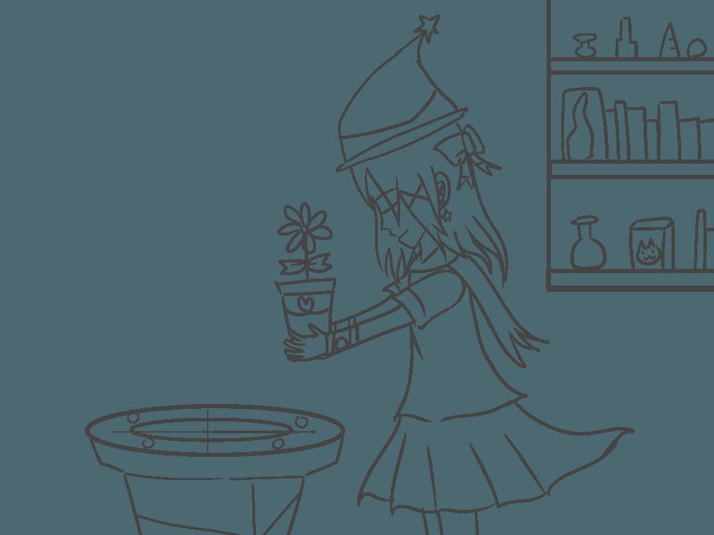魔女的祈禱 Illust of 神祕的星彩star fantasy girl 魔法 訓練背景 自創角色 witch 特效blingbling cute
