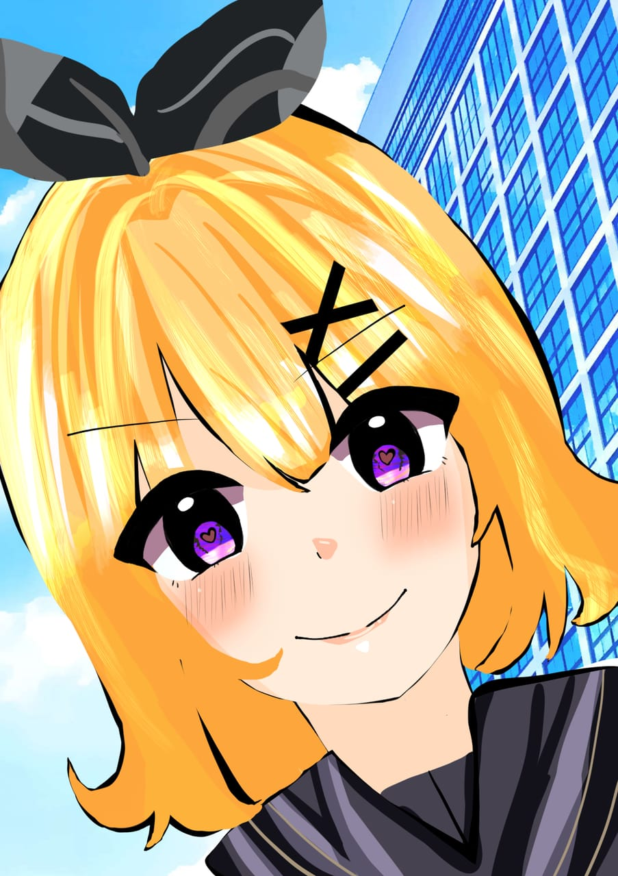リン Illust of さいら Kagamine_Rin 本気絵 painting リン クリスタ illustration girl 女の子イラスト scenery おんなのこ