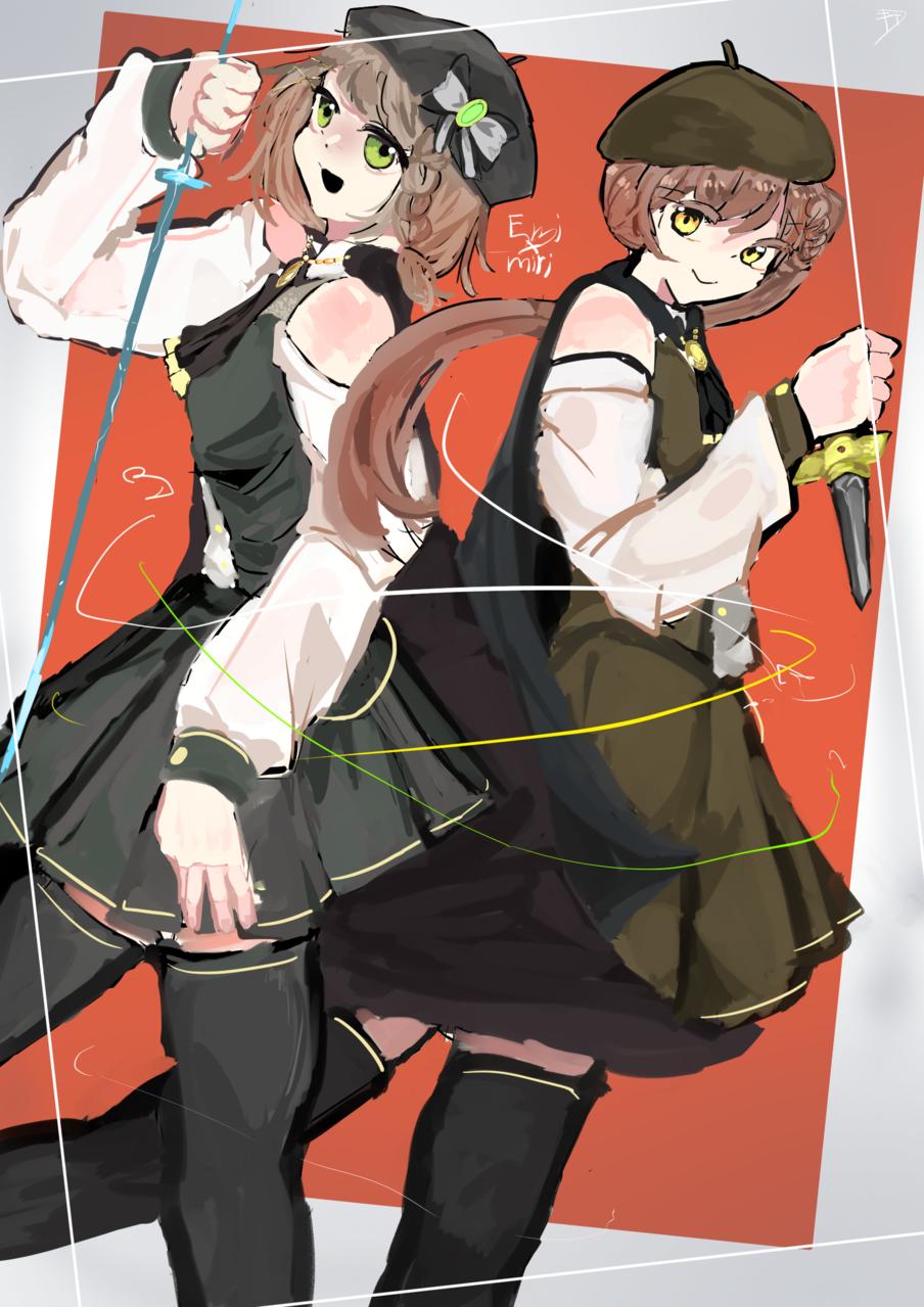 えみみり!!!! Illust of 黒鳥エイキ#城之内克也軍団 代理 illustration けいみり militaryuniform えみるりあ