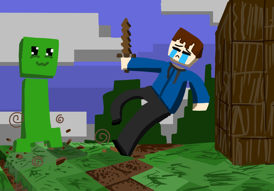 This I Tried To Play Minecraft Nightmare Puppet イラスト