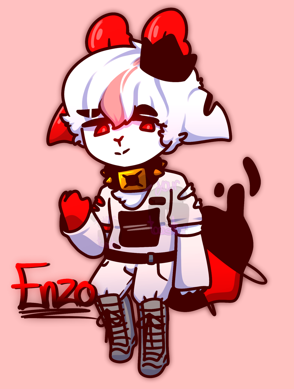 ayyy its Enzo but- anthro?