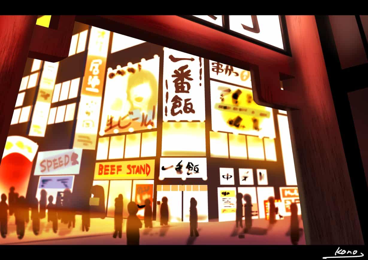 【背景ワンドロ】繁華街