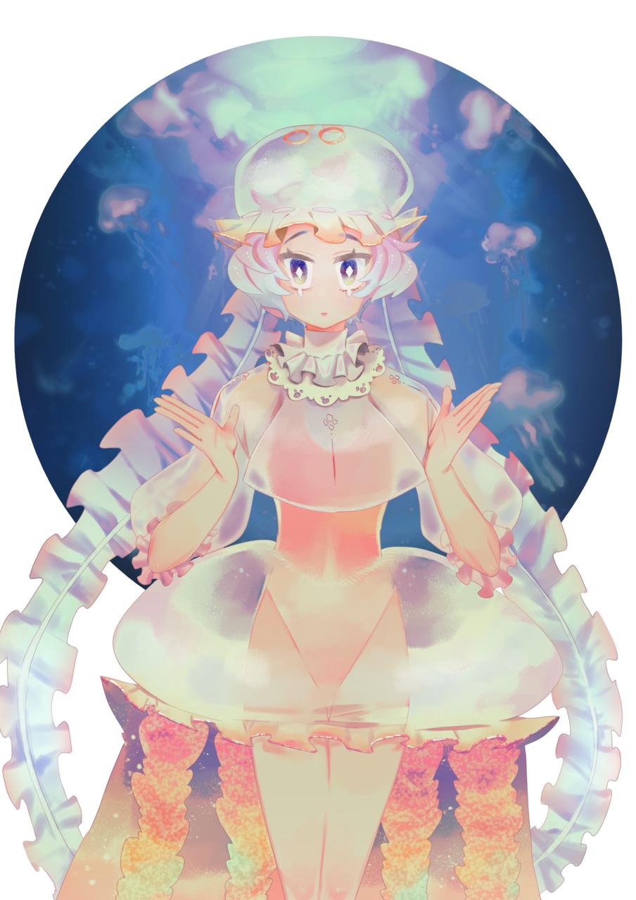生物/水母少女 Illust of 伊達唯 brag.your.country jellyfish girl original