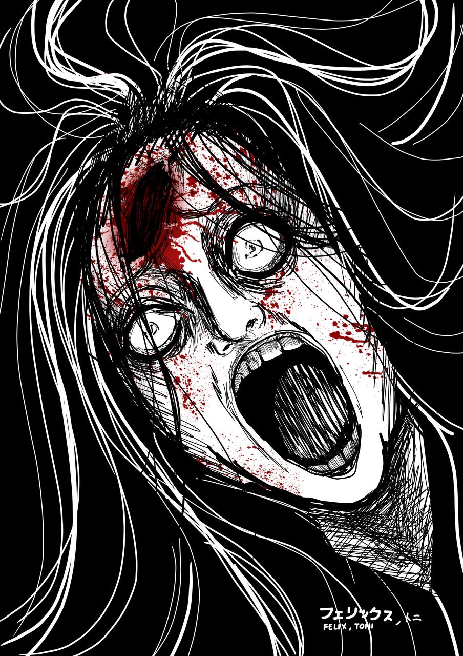 Felix, Toni- psychopath Illust of Goatman August2020_Contest:Horror gothic