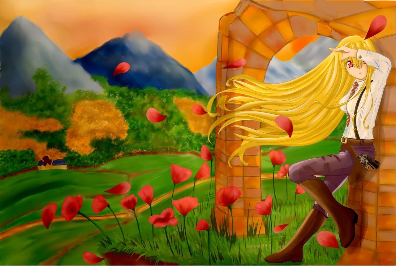 Ocaso de la sociedad secreta Illust of Hori ART_street_Illustration_Book_Contest criaturas chica cazadora sociedad infernales secreta