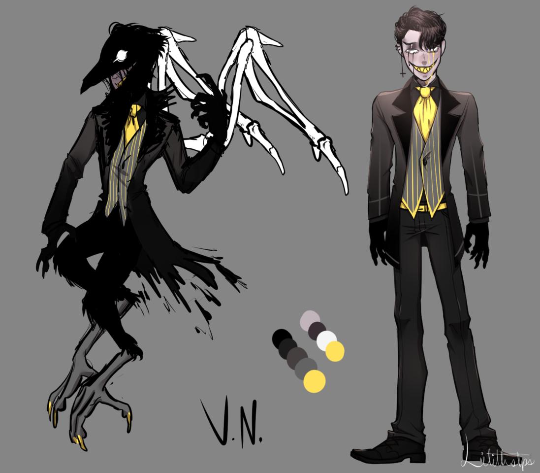 Venn/V.N [Hazbin Hotel OC] Illust of Somnvari characterdesign doodle Myoc oc