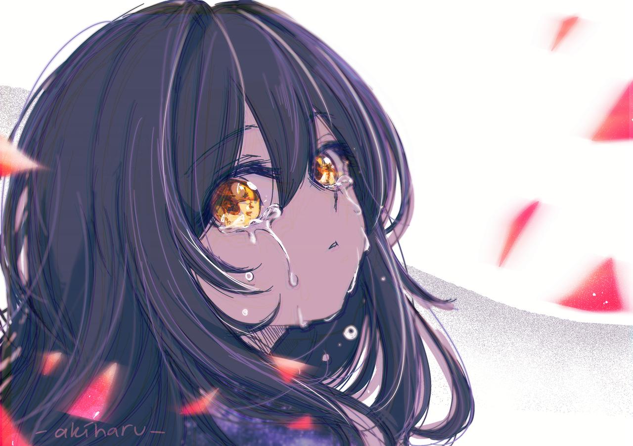 Mischa - Tears Illust of AkiHaru anime girl gold eyes medibangpaint illustration tears oc