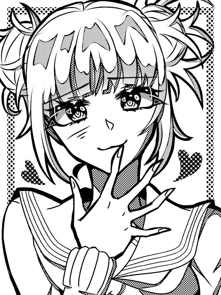 Himiko Toga Illust of UNDERDOGS. medibangpaint girl Toga MyHeroAcademia anime Himiko