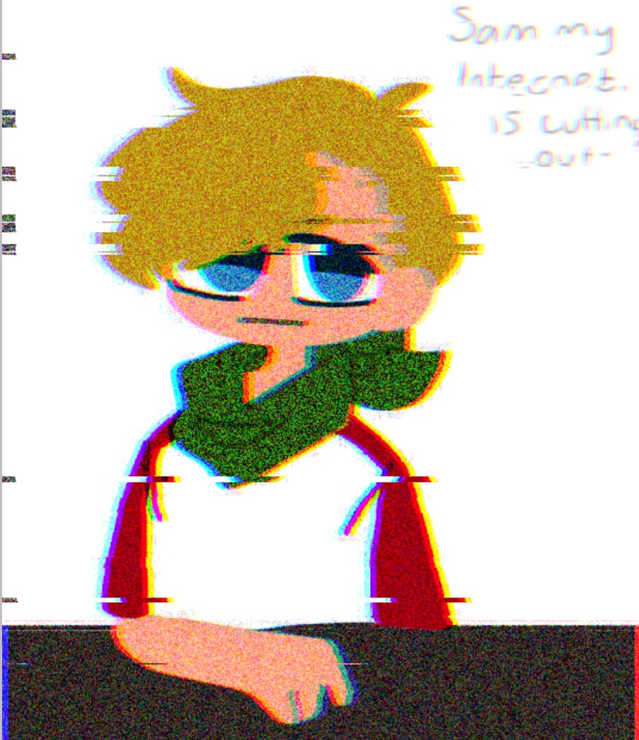 From today's stream  Illust of Rainey 404 Glitch Tommyinnit