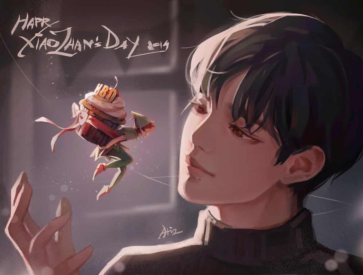 Happy Xiao Zhan's Day Illust of Atin #xiaozhan