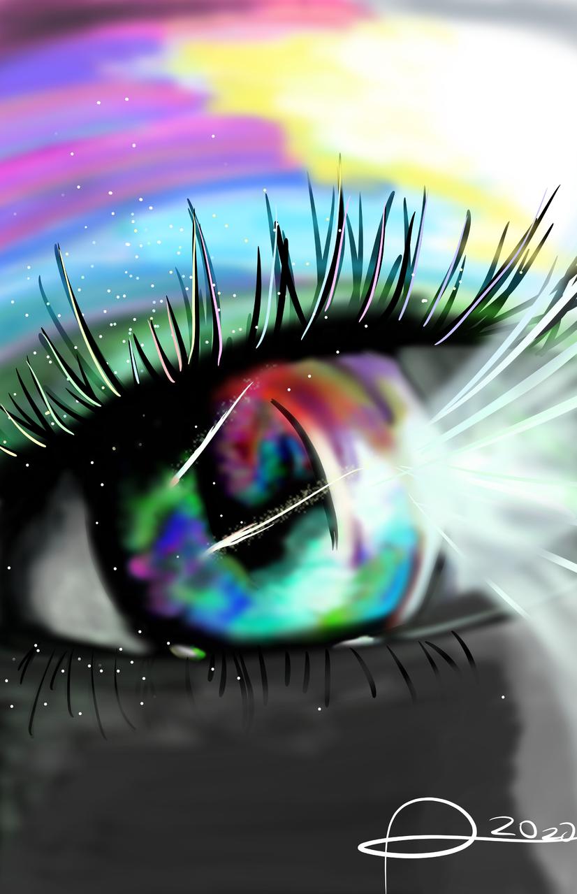 o.o  Illust of Den-Art ARTstreet_Ranking April.2020Contest:Color jumppaint . medibangpaint eyes