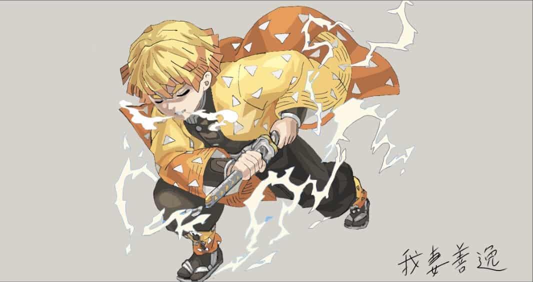 霹靂一閃 Illust of ののむー DemonSlayerFanartContest 雷の呼吸 KimetsunoYaiba 霹靂一閃 AgatsumaZenitsu