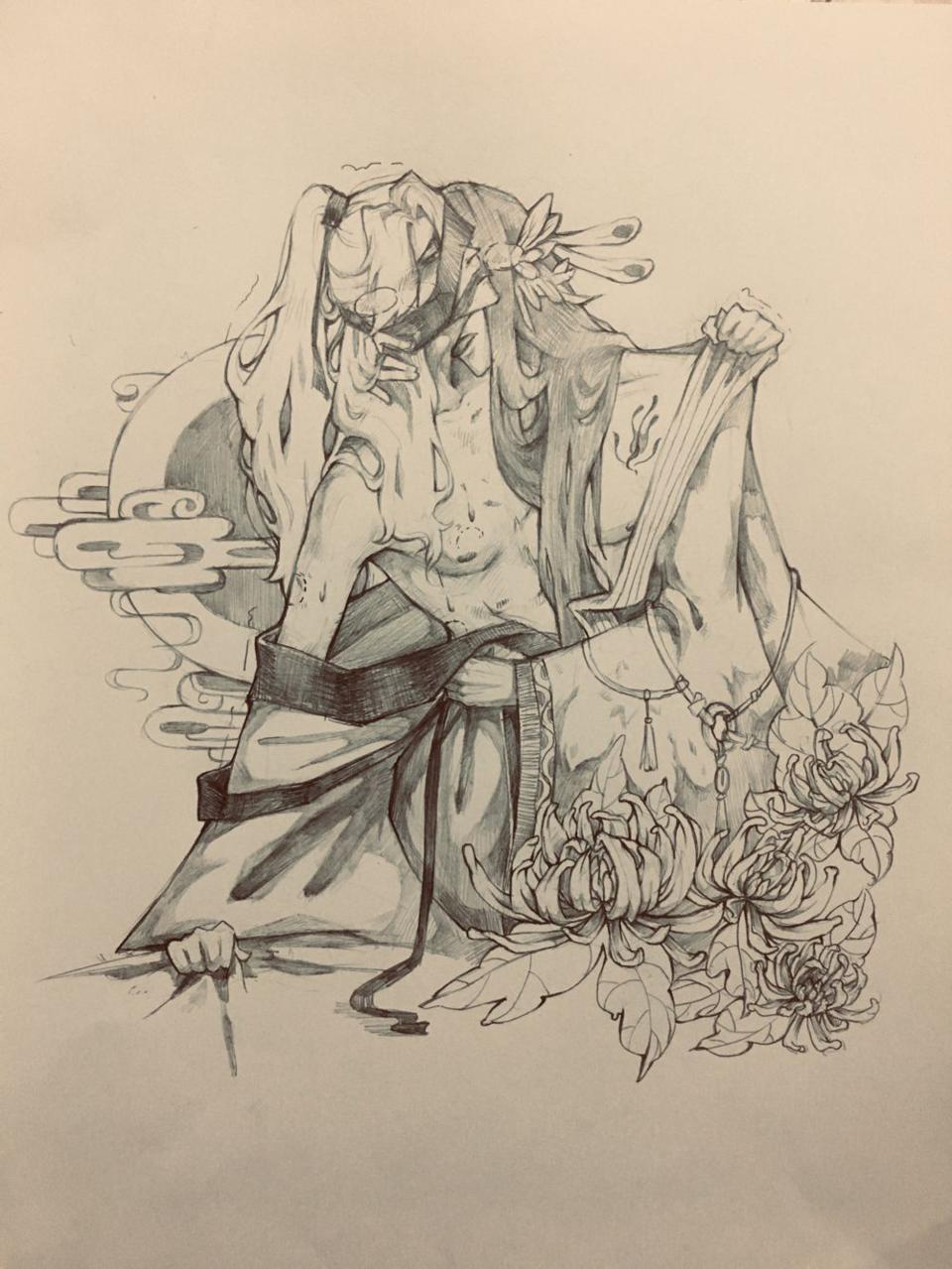 bl Illust of 吴本道士 original medibangpaint