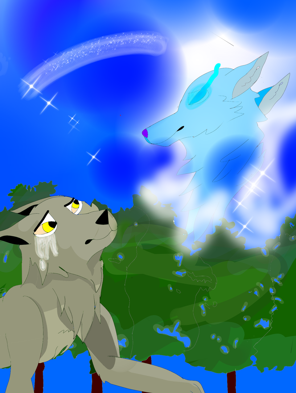 Wolf #33  Illust of 🦁 SunRay 🦁 medibangpaint wolfbyturbosun wolf