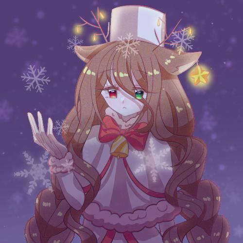Merry Christmas🎄 Illust of 🍀엘뤼이스 original 獣人 엘뤼이스 Christmas girl MerryChristmas