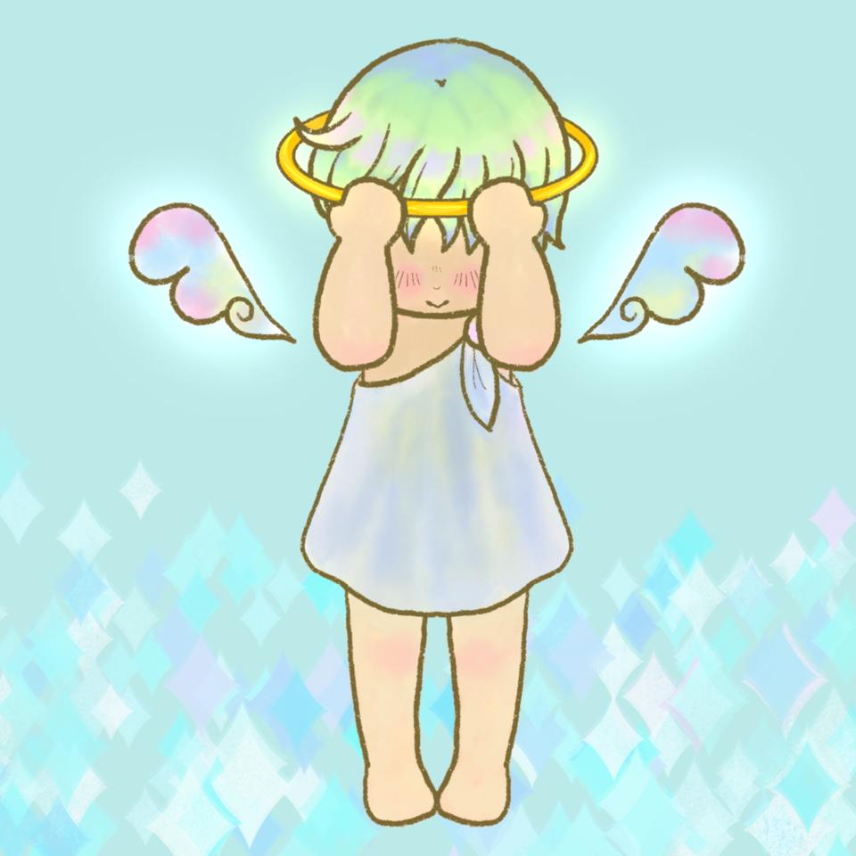シャイな天使 Illust of chiwo oc angel シャイ キラキラ boy 照れ屋