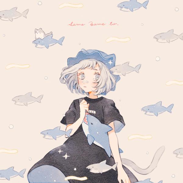 さめざめと。 Illust of 緑乃 original cat サメ girl