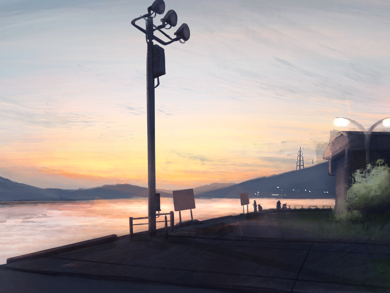 sunset Illust of たまさ やもと medibangpaint